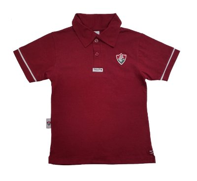 Camisa Polo Infantil Fluminense Grena Oficial