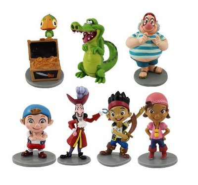 Kit Jake Piratas com 7 Personagens