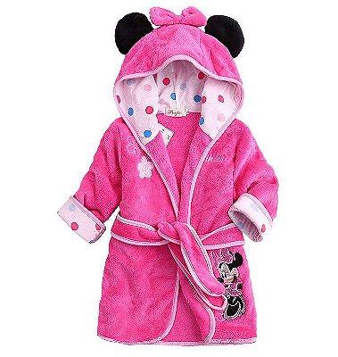 Roupão Aveludado Minnie Infantil