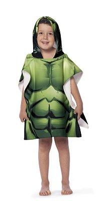 Toalha Poncho infantil com Capuz Avengers Hulk Lepper