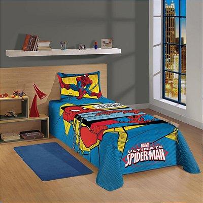 Colcha Infantil Spider Man 1,50m x 2,10m 1 Pç - Lepper