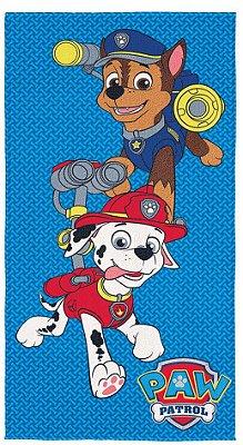 Toalha Infantil Patrulha Canina Aveludada - Lepper
