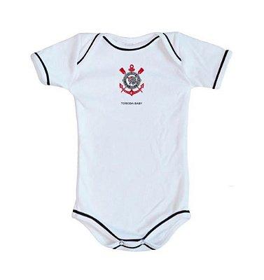 Body Corinthians Oficial Branco - Torcida Baby