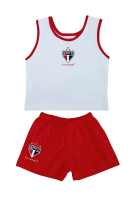 Conjunto São Paulo Bebê Regata Malha - Torcida Baby