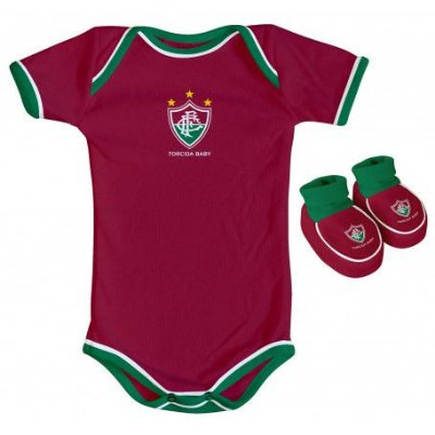 Body e Pantufa Fluminense Grená - Torcida Baby