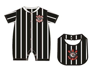 Kit Bebê Corinthians Com Babador Oficial