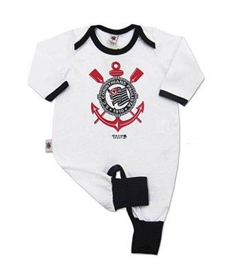 Macacão Bebê Longo Corinthians Timão Oficial