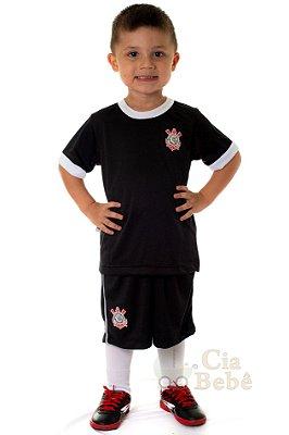 Conjunto Infantil Corinthians Uniforme Artilheiro Oficial