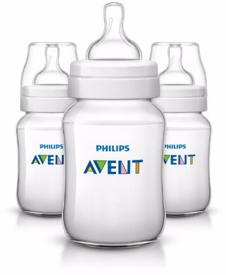 Kit com 3 Mamadeiras Philips Avent Classic 260ml
