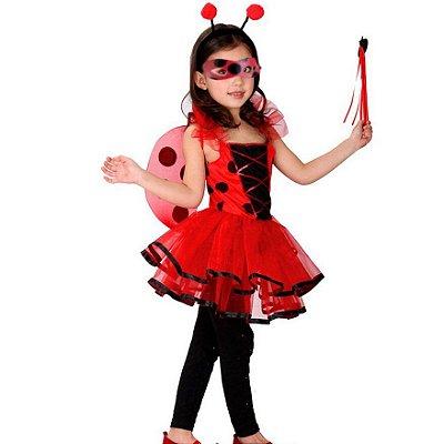 Vestido Fantasia Infantil LadyBug Miraculous Joaninha