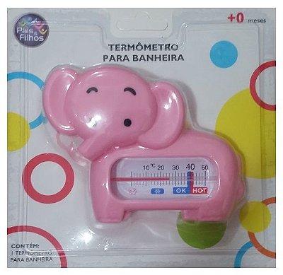 Termômetro Banheira Bebê Elefantinho Rosa