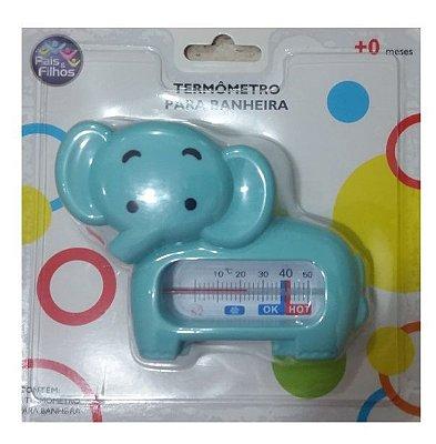 Termômetro Banheira Bebê Elefantinho Azul