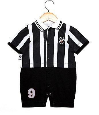 Macacão Bebê Vasco Uniforme Campo Oficial