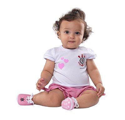 Conjunto Bebê Corinthians Rosa - Torcida Baby