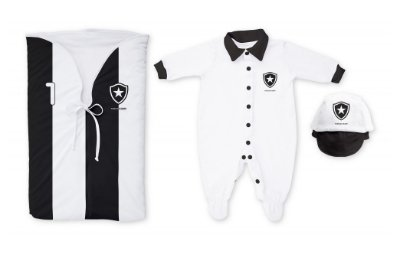 Kit Bebê Botafogo Saída Maternidade Preto - Torcida Baby