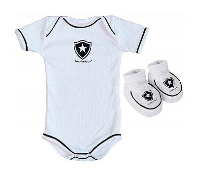 Body e Pantufa Botafogo Branco - Torcida Baby