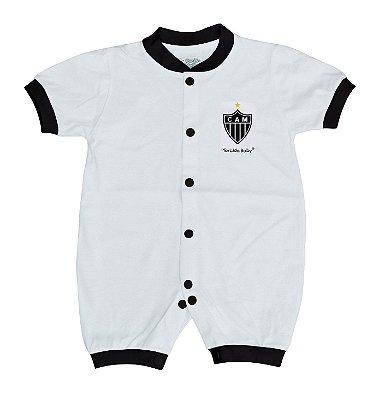 Macacão Bebê Atlético MG Manga Curta Malha - Torcida Baby