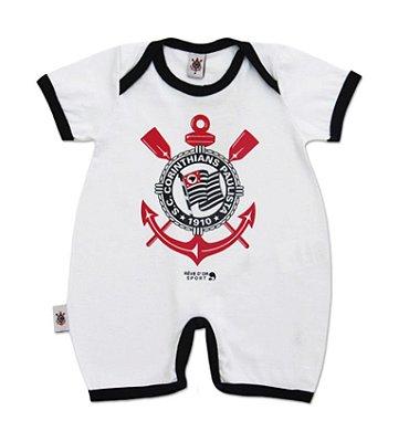 Macacão Bebê Curto Corinthians Timão Oficial