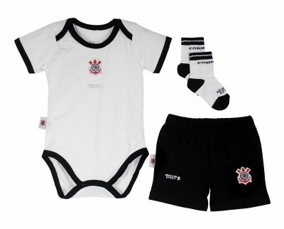Kit Conjunto Corinthians Body Shorts e Meia Oficial 8a34be5ec9df5