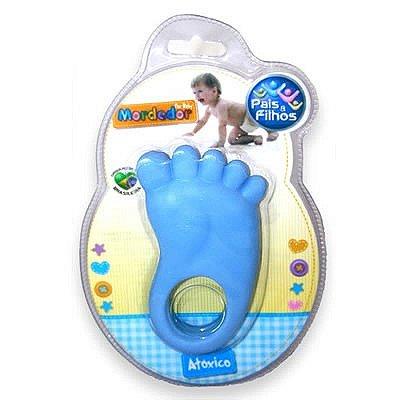 Mordedor Bebê Pezinho Azul Pais e Filhos