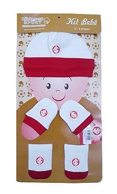Kit Bebê 3 Pçs Internacional Touca Luva e Meia Oficial
