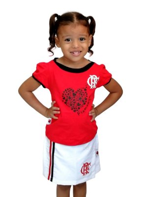 Conjunto Infantil Flamengo Short Saia Oficial