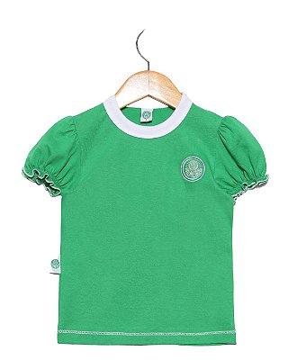 Baby Look Bebê Palmeiras Verde Feminina Oficial