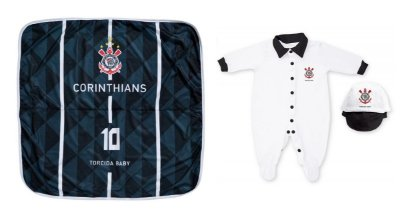 Kit Corinthians Maternidade Com Manta - Torcida Baby