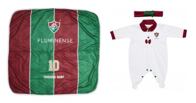 Kit Maternidade Fluminense Com Manta e Tiara - Torcida Baby