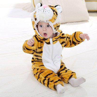 Macacão Bebê Tigre Plush Luxo