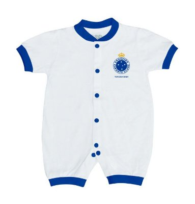 Macacão Bebê Cruzeiro Curto Malha - Torcida Baby