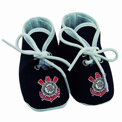 Chuteirinha Bebê Corinthians Preta Revedor