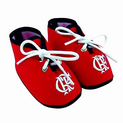 Chuteirinha Bebê Flamengo Vermelha Revedor