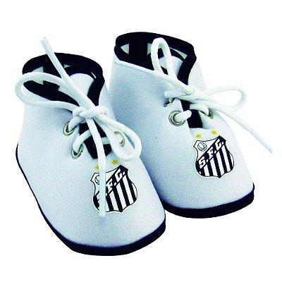 Chuteirinha Bebê Santos Branca Revedor