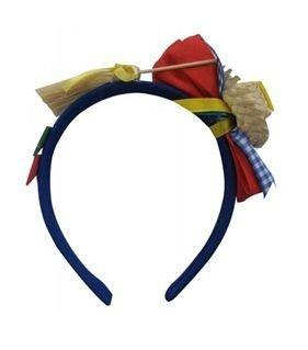 Tiara de Caipira Festa Junina Azul ou Vermelha
