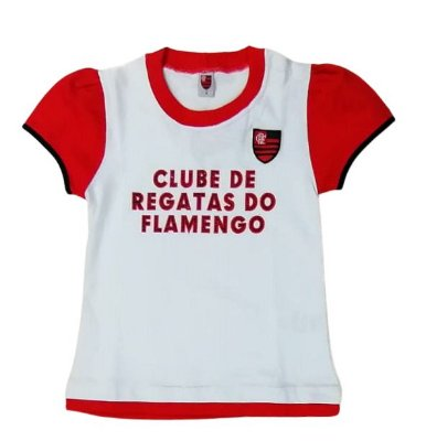 Baby Look Infantil Flamengo Oficial