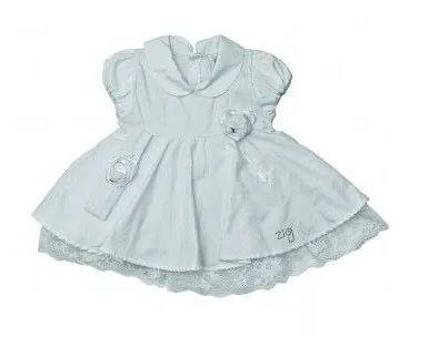 Vestido Bebê Batizado Zigmundi Branco