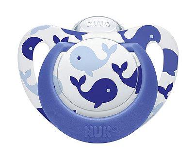 Chupeta Silicone Genius NUK Azul S3 18m A 36m
