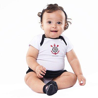Body Saia Corinthians Com Tiara Oficial - Torcida Baby