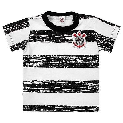 Camiseta Bebê Corinthians Listras Oficial