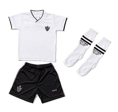 Conjunto Infantil Atlético MG Uniforme Dry Oficial