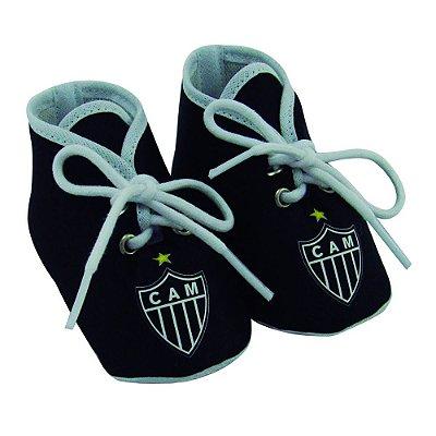 Chuteirinha Bebê Atlético MG Preta Revedor
