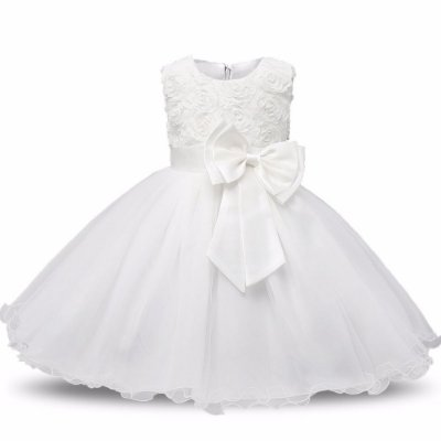 Vestido Infantil Festa Casamento Batizado Branco Brilho