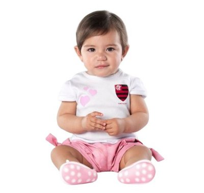 Conjunto Bebê Flamengo Rosa Oficial - Torcida Baby