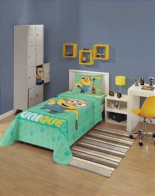 Jogo de Cama Infantil Minions 1,50m x 2,10m Com 2 peças Lepper
