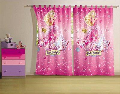 Cortina Infantil Barbie 1,45m x 2,20m Com 2 peças - Lepper