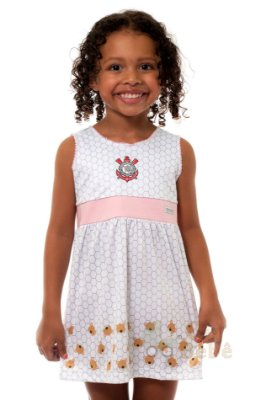 Vestido Infantil Corinthians Ursinhos Oficial