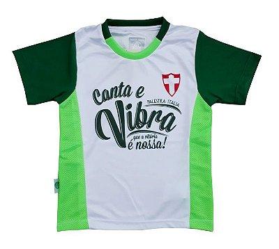 Camiseta Infantil Palmeiras Canta e Vibra Oficial