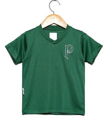 Camiseta Infantil Palmeiras Verde Gola V Oficial