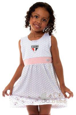 Vestido Infantil São Paulo Mascote Oficial